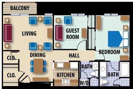 Independent living parker ridge senior living community for 1000 sq ft apartment